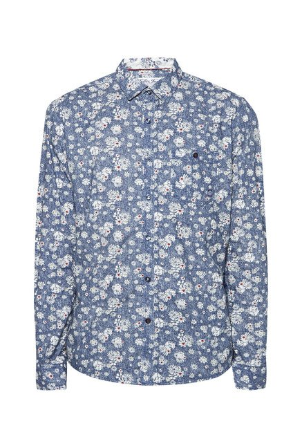 Killer Navy Fossil Printed Shirt