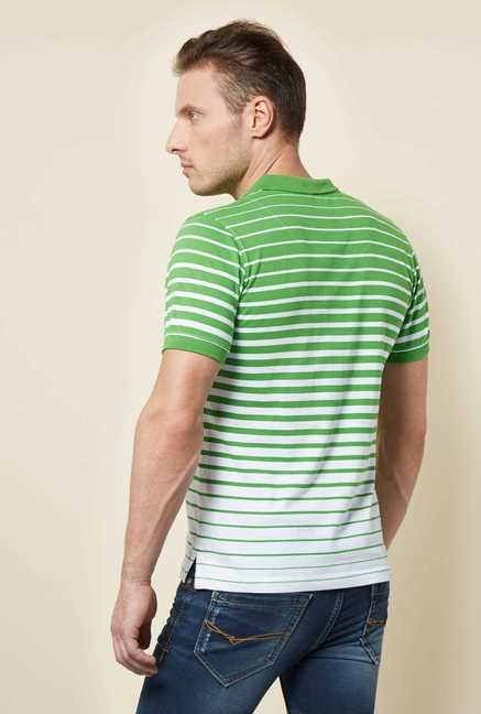 Killer Green Striped Polo T Shirt