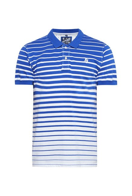 Killer Royal Blue Striped Polo T Shirt