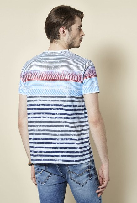 Killer Blue Striped T Shirt