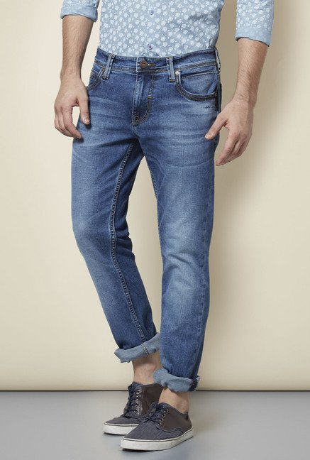 Lawman Blue Mid Rise Slim Fit Jeans