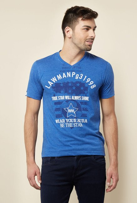 Lawman Blue Cotton T shirt
