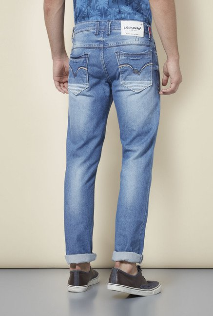 Lawman Blue Distressed Slim Fit Jeans