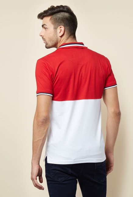 Lawman Red & White Solid T shirt