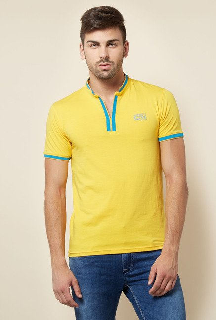 Lawman Yellow Solid T shirt