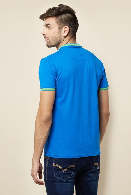 Lawman Blue Solid T shirt