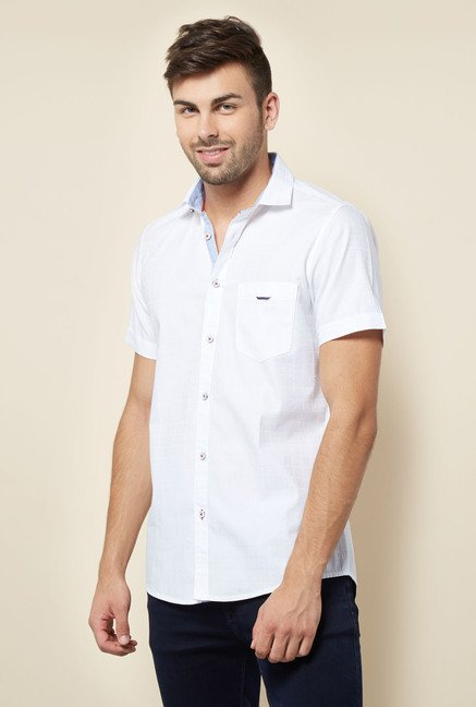 Lawman White Checks Casual Shirt