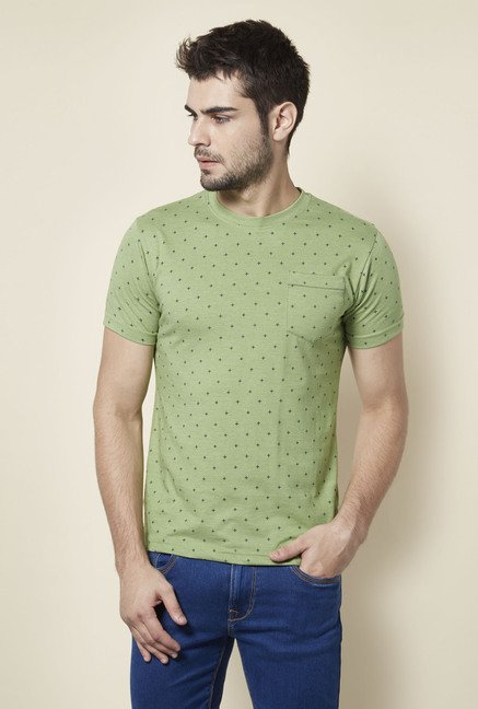 Lawman Mint Green Printed T shirt