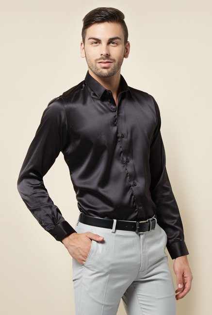 Lawman Black Solid Casual Shirt