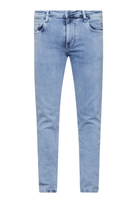 Lawman Ice Blue Washed Slim Fit Jeans