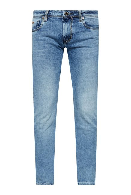 Lawman Blue Slim Fit Cotton Jeans