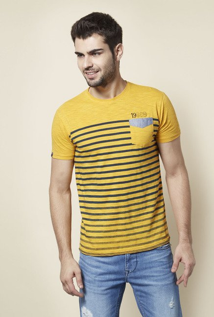 Lawman Yellow Striped T shirt