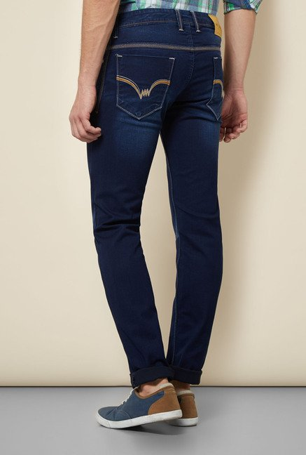 Lawman Navy Washed Skinny Fit Jeans