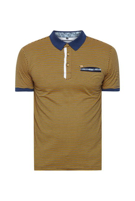 Lawman Mustard Striped T shirt
