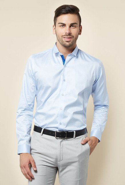 Lawman Blue Solid Casual Shirt