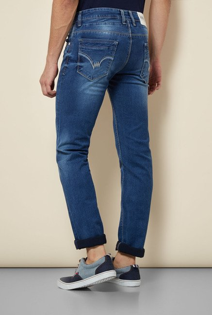 Lawman Blue Solid Skinny Fit Jeans