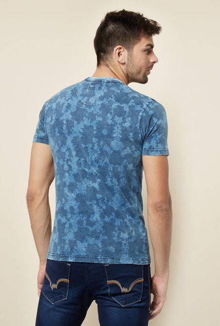 Lawman Blue Printed T shirt