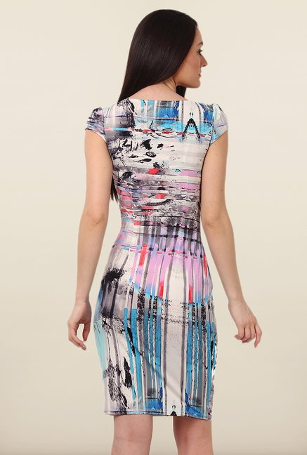 Avirate Multicolor Printed Bodycon Dress