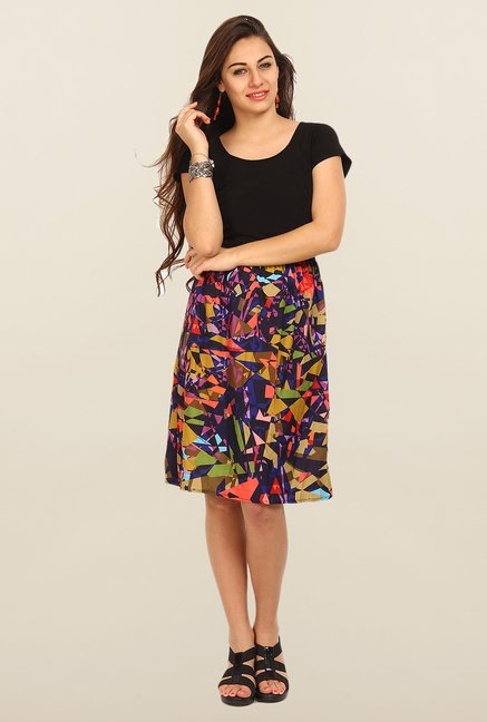 Avirate Multicolor Printed Casual Dress