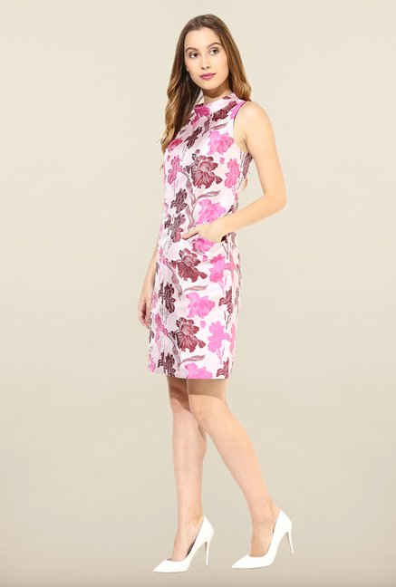 Avirate Pink Floral Print Shift Dress