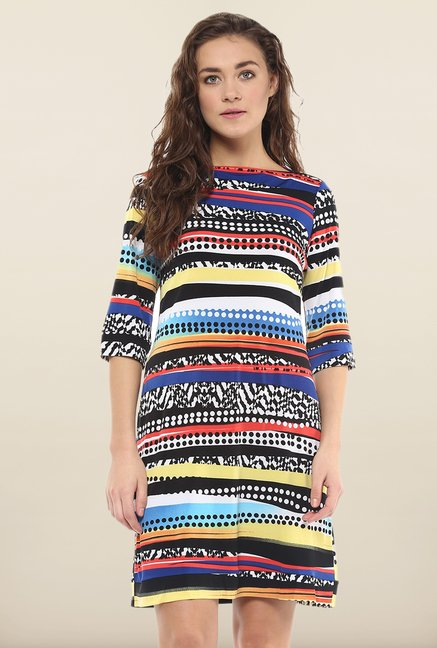 Avirate Multicolor Printed Casual Shift Dress