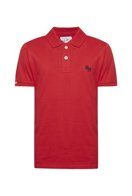 Killer Red Solid Polo T Shirt