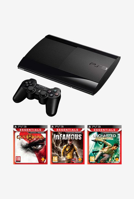 Sony PS3 12GB Holiday Bundle Console Black