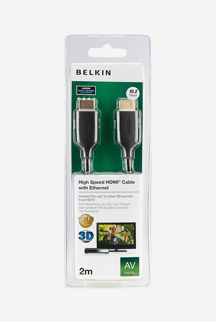 Belkin F3Y021QE2M Gold-Plated High-Speed HDMI Cable Black