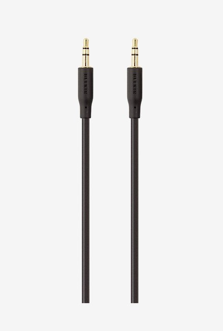 Belkin F3Y117bf2M Gold-Plated AUX Cable Black