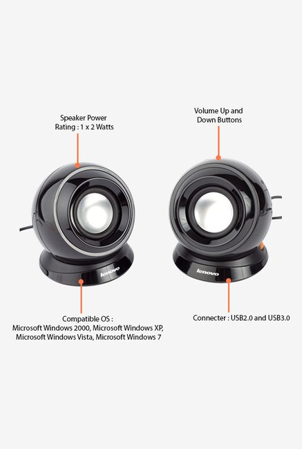 Lenovo M0520 Speakers - Black