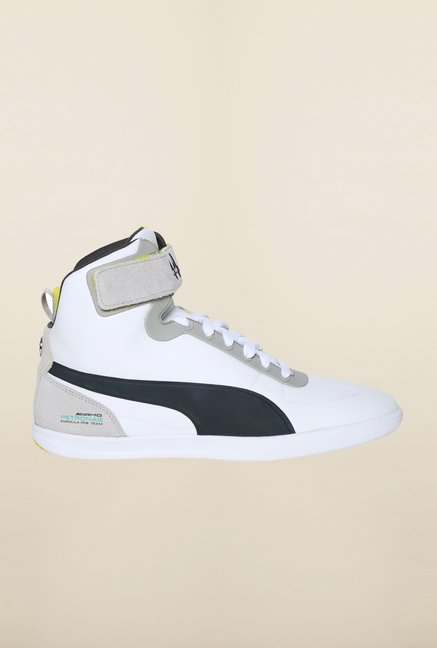 Puma Mercedes AMG Petronas White & Dark Shadow Sneakers