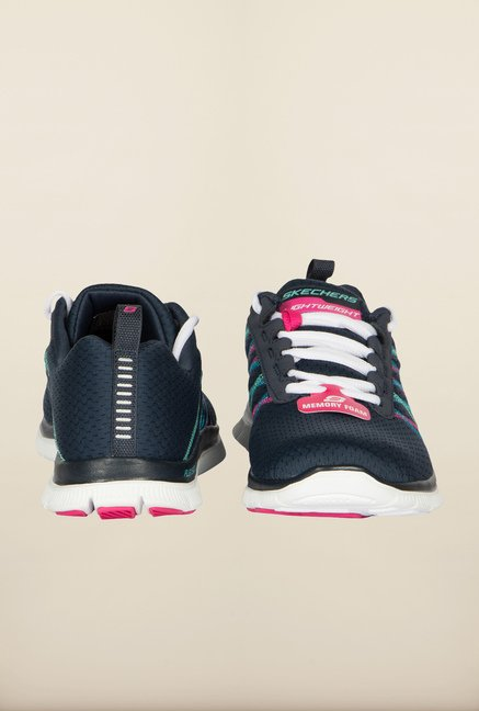 Skechers Flex Appeal Navy Running Shoes