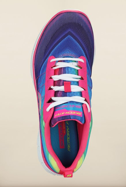 Skechers Flex Appeal Pink & Blue Running Shoes