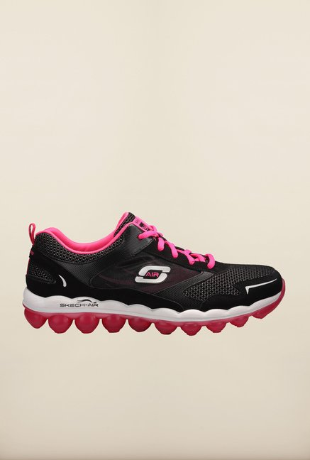 Skechers Skech-Air Black & Pink Running Shoes