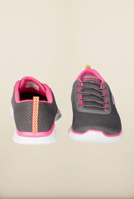 Skechers Glider Grey & Pink Running Shoes