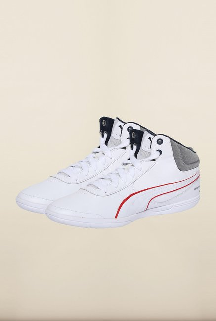 Puma BMW White & Heather Grey Sneakers