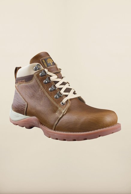 Woodland Brown Ankle High Boots