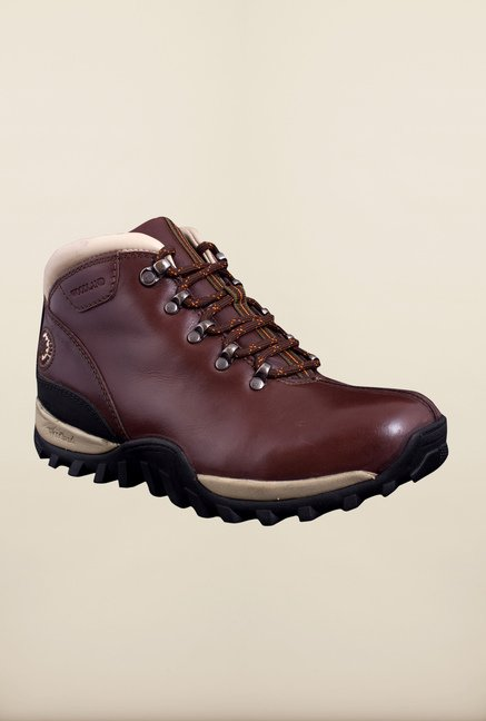 Woodland Maroon Ankle High Boots