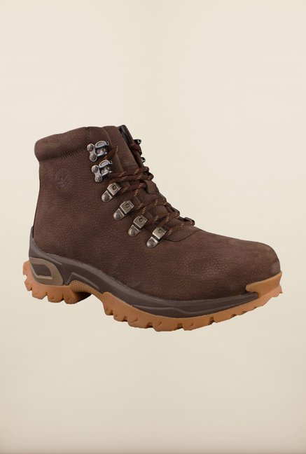 Woodland Brown Ankle High Biker Boots
