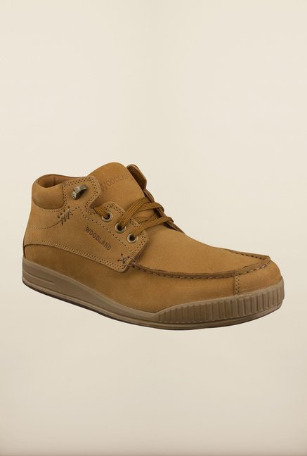 Woodland Camel Ankle High Boots