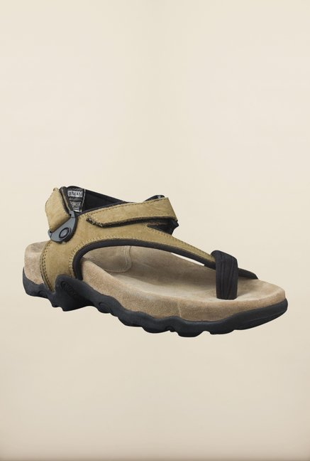 Woodland Khaki Back Strap Sandals