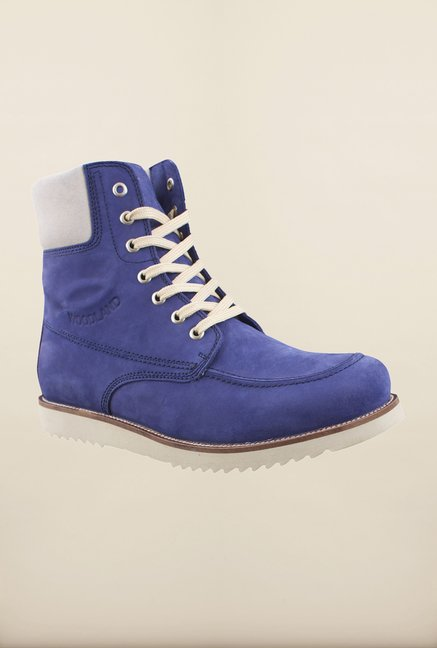 Woodland Navy Ankle High Boots