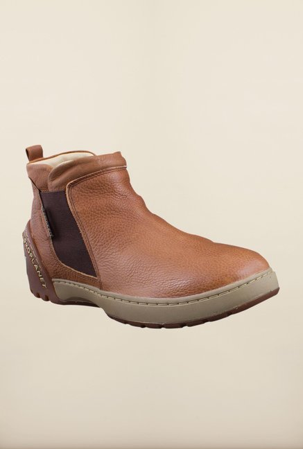 Woodland Brown Ankle High Chelsea Boots