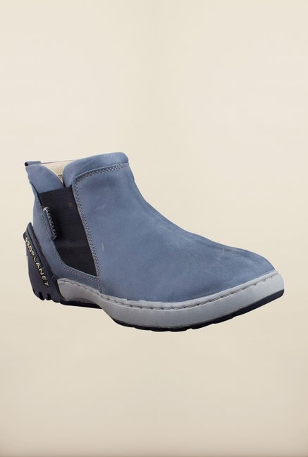 Woodland Grey Ankle High Chelsea Boots