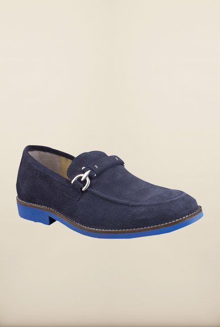 Woodland Neon Blue Oxford Shoes