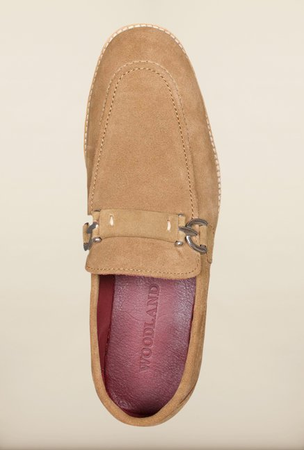 Woodland Camel Oxford Shoes