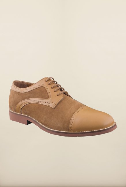 Woodland Camel Derby Shoes