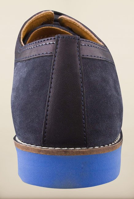 Woodland Navy Derby Shoes