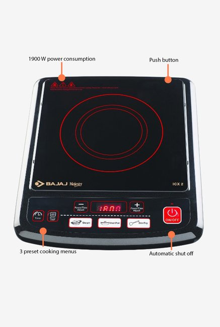 Bajaj Majesty 1900W ICX 2 Induction Cooktop Black