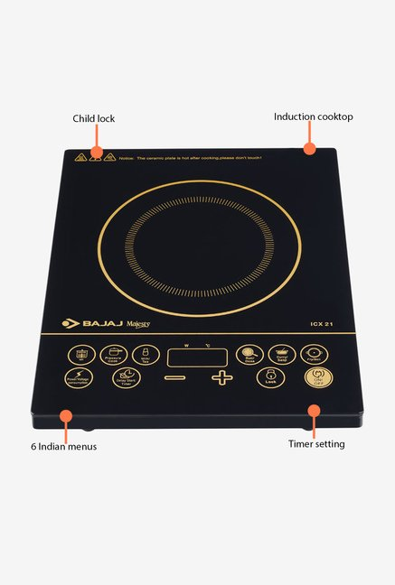 Bajaj Majesty 2000W ICX 21 Induction Cooktop Black
